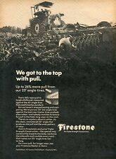1970 Print Ad of Firestone Tractor Tires more pull in alfalfa sod