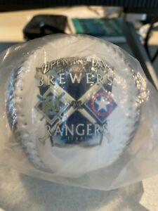 Milwaukee Brewers Vs Texas rangers Opening Day Baseball Limited Edition 1997