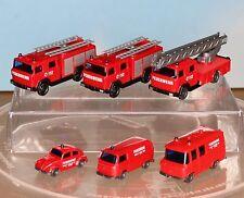 Wiking 096104, 096203, 093449, - Spur N -, Feuerwehr-Auto-Paket der 70er Jahre