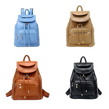 Vintage Women's Backpack Travel PU Leather Handbag Rucksack Shoulder School ZPHN