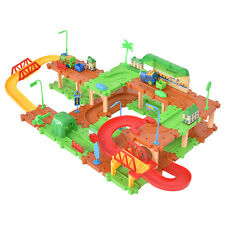 Electronic Kids Child 69PCS B/O Plastic Brick Toys Building Blocks Railway Train