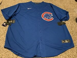 NIke Chicago Cubs Rizzo #44 Jersey Men's Size: 2XL NWT Blue/White/Red MLB