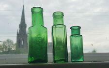 Three Antique Chemist Bottles