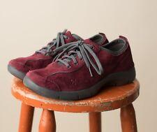 Dansko Suede Lace-Up Casual Sneaker tennis shoes Elise Wine gray 40 8.5 9 womens