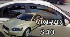 VOLVO S40 mk2 4-doors 2004-2012 4-pc wind deflectors HEKO Tinted