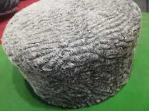 Jinnah Karakul Round design -Handmade-Cap-Persian-Lamb-Kufi-Fur-Sheep-Broad