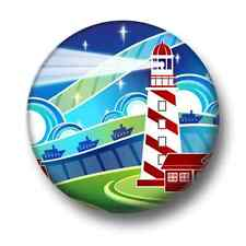 Lighthouse 1 Inch / 25mm Pin Button Badge Boats Ships Sailing Keeper Seaside Fun