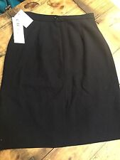 Women's Skirt Suit-CHAUS-navy blue 100% wool lined-8 English Manor NEW NWT