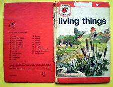 Living Things Ladybird vintage book nature fish insects flowers insects animals