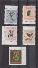 TIMBRE STAMP  5 COSTA RICA  Y&T#639-43 FLEUR FLOWER  NEUF**/MNH-MINT 1976 ~B84