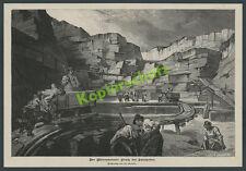 Cava Solnhofen Mörnsheim OPERAI FERROVIE campo Legno Ferrovia geologia artigianato 1889
