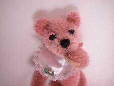 """World of Miniature Bears 5"""" Mohair Bear Cuddles #888 Collectible Miniature Bear"""