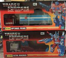 Transformers G1 TRU Reissue Optimus Prime & Ultra Magnus MIB 2002