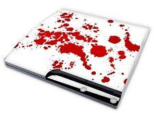 Playstation 3 SLIM Aufkleber PS3 Skin Sticker Designfolie Schutz Foliet Blood