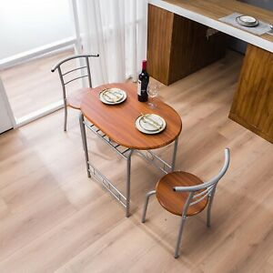 3 pcs Bistro Dining set table and 2 chairs kitchen furniture home new model