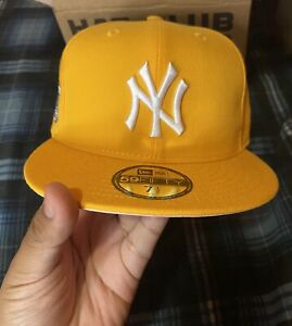 Hat Club Exclusive NY Yankee Pink Bottom Fitted 7 1/2🍋🌸