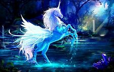 Fantasy Unicorn - Mythical Animal Legendary Creature Large Canvas Picture 20x30""