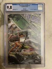 Cavewoman: Riptide 1 CGC 9.8 7/19 Action Comics 1 cover homage Virgin cover.