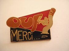 PINS RARE VINTAGE OUF MERCI MESSAGE PREVENTION STOP CIGARETTE TOBACCO wxc 32