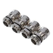 H3 4 Stk PG7 3-6,5 mm Dia Draht Metall wasserdichte Anschluss Kabeldurchfuehrung