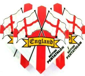 DART FLIGHTS Thick Darts Flights 5 SETS BRITISH PENTATHLON England St George