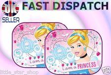 2x Disney Princesa Niños Bebé Niños Niña coche ventana sombrillas 44x35cm