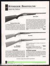 2002 STOEGER Coach Gun, Uplander & English Stock Shotgun AD