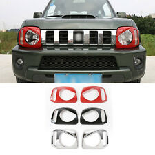 2X Black Bezels For Suzuki Jimny 2011-2015 ABS Front Headlight Lamp Cover Trim