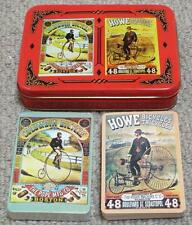 Penny Farthing Bicycle & Tricycle Double Pack of Playing Cards in a Special Tin