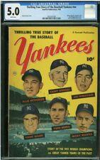 1952 THRILLING TRUE STORY OF THE BASEBALL CGC 5 YANKEES JOE DIMAGGIO MANTLE HOF