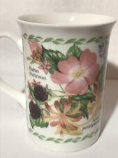 Churchill Fine Bone China Coffee Mug Tea Cup Floral Flowers Berries UK RARE!