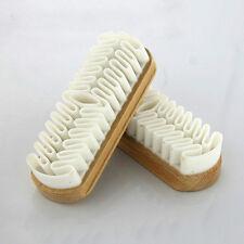 Blanca goma crepé cepillo de zapatos de gamuza bolsos botas