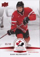 14-15 Team Canada Juniors Sam Reinhart /99 Red Exclusives Upper Deck 2014