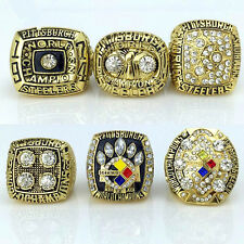1974 1975 1978 1979 2005 2008 Pittsburgh Steelers championship ring 6 together@@