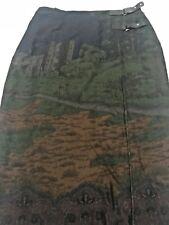 Polo Ralph Lauren Women's Long Wrap Skirt Oxfordshire Scene Woodland Sz 6