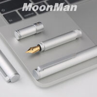 MoonMan N1 Aluminum Alloy Short Fountain Pen Extra Fine/Fine 0.5mm/0.38mm Nibs