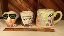 Maxine - Shoebox Greetings Hallmark 3 Different Mug Cup Lot