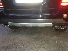 Mercedes Benz Edelstahl Endrohre Set für ML 163 164  4 Rohr Optik