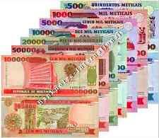 MOZAMBIQUE 7 NOTE SET 500 1000 5000 10000 20000 50000 100000 UNC P 134 - 140