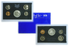 1970 S 5 Coin Proof Set LD Original Government Box Smokiness/Toned Bad Box