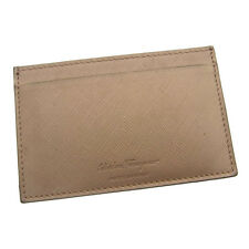 Auth Salvatore Ferragamo Card Case with logo unisexused E535