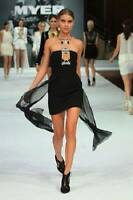 "BNWT SASS & BIDE ""Lucky 13""  Bustier Embellished Harness Dress - Sz 6 - $790"