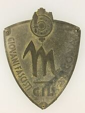 Italian Fascist youth metal sleeve shield of G.I.L. (Gioventù Italiana Littoria)