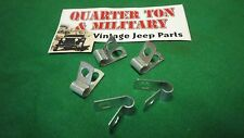 "Jeep Willys MB GPW CJ2A M38 wire clamp set of five  1/4"" small style"