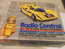 Vintage 1977 Cox Interceptor Yellow Race Car gas .049 motor Remote Control RC