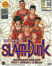 DVD Slam Dunk Complete Box Set (Vol. 1-101 End) + 4 Movie & Free Shipping(A10)