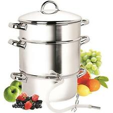 Cook N Home NC-00256 11-Quart Stainless-Steel Juicer Steamer New