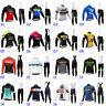 2020 New Mens Team Cycling Jersey Cycling Long Sleeve Jersey And Bib Pants Set
