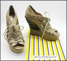Geometric Lace Up Heels for Women