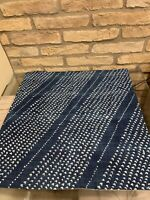 Pottery Barn Stanton Hand Dyed PIllow Cover Blue Hearts New Decor